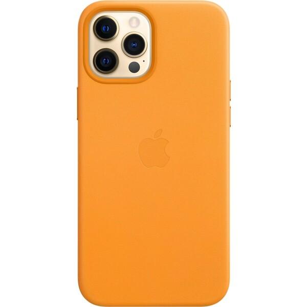 Apple kožený kryt s MagSafe iPhone 12 Pro Max měsíčkově oranžový