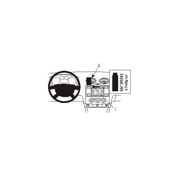 Brodit ProClip montážní konzole pro Ford Focus 05-10, na střed vlevo 853584 Černá