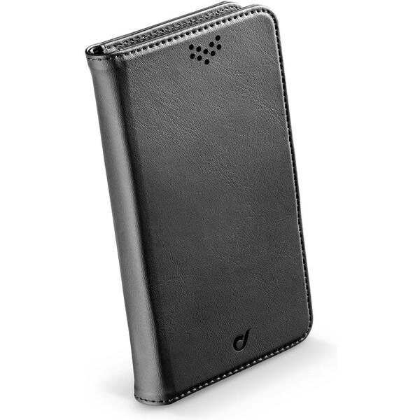 Univerzální pouzdro typu kniha CellularLine BOOK UNI AGENDA, velikost XL, černé Černá