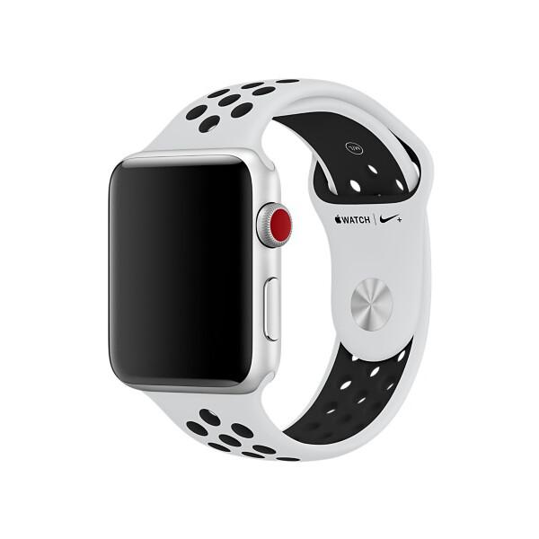 Apple Watch Nike+ sportovní řemínek 42mm MQWQ2ZM/A Platinová / černá