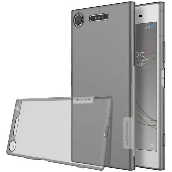 Pouzdro Nillkin Nature TPU Sony G8441 Xperia XZ1 Compact Šedá