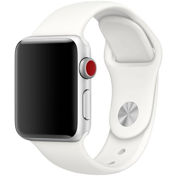 Apple Watch 42mm Soft White Sport Band Mušlově bílá