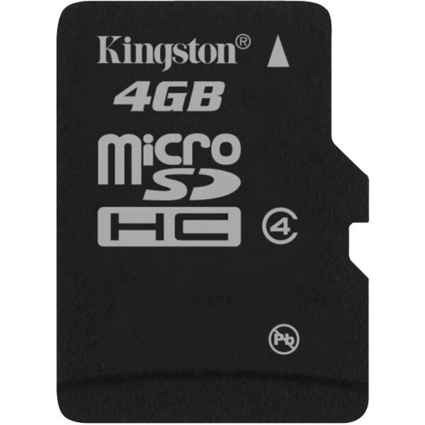 Kingston microSDHC 4GB class 4 SDC4/4GBSP Černá