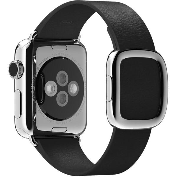 Apple Watch řemínek s moderní přezkou 38mm L černý
