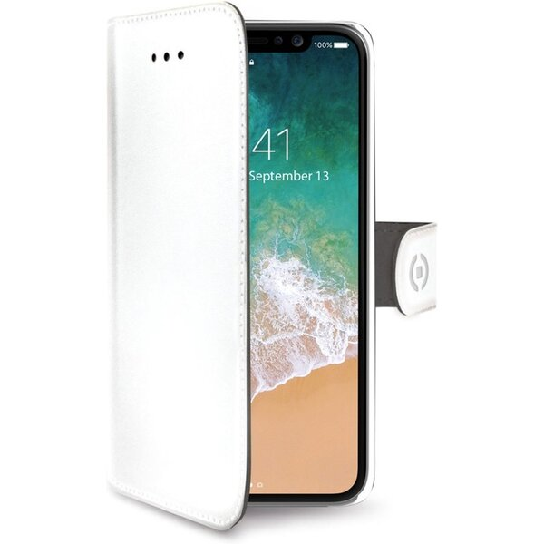 CELLY Wally flip pouzdro Apple iPhone XS Max bílé