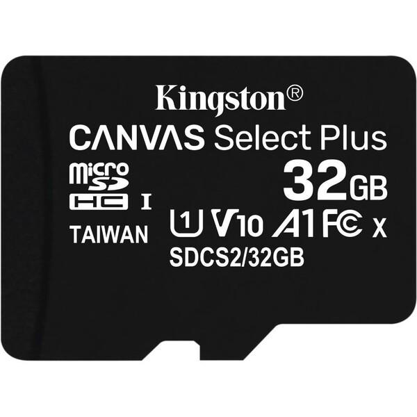 Kingston microSDHC Canvas Select Plus 32GB 100MB/s UHS-I