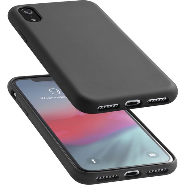 CellularLine SENSATION ochranný silikonový kryt iPhone XR černý 68502f759ae