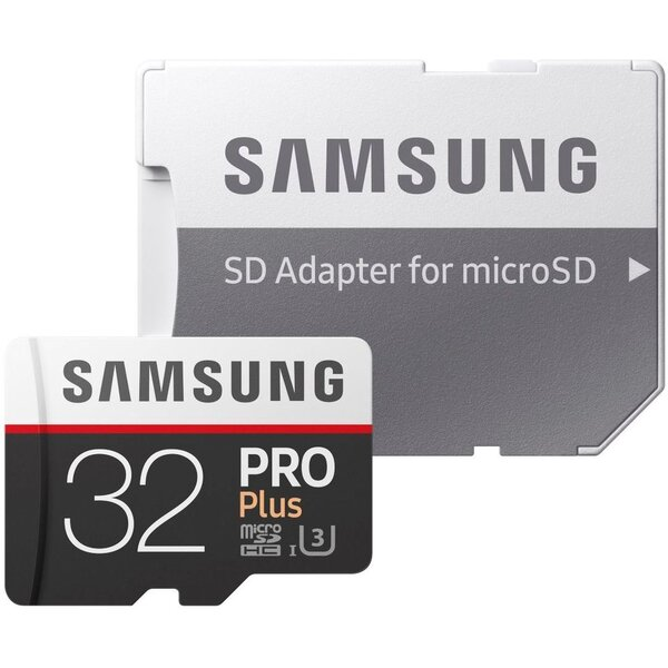Samsung Pro microSDXC 32GB UHS-I + adaptér MB-MD32DA/EU Černá
