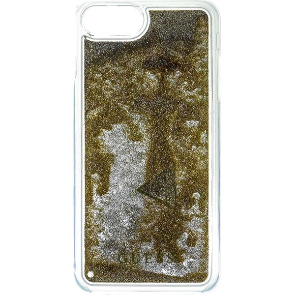 Pouzdro Guess Liquid Glitter Hard iPhone 6/6S/7 Plus Zlatá
