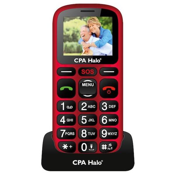 CPA HALO 16 s nabíjecím stojánkem červený