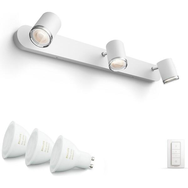 Philips Hue White Ambiance Adore bodové koupelnové svítidlo 3x5,5W + ovladač