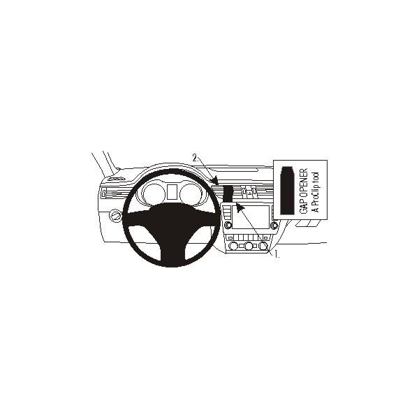 Brodit ProClip Subaru Impreza 01-04/Outback Sport 01-04 pro USA/WRX 01-04 pro USA, na střed 852885 Černá