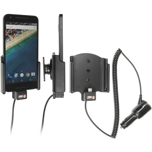 Brodit držák do auta na LG Nexus 5X bez pouzdra, s nabíjením z cig. zapalovače/USB 521817 Černá