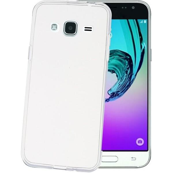 Pouzdro Celly Gelskin Samsung Galaxy J3 2016 čiré Čirá