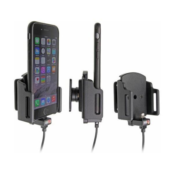 Brodit držák do auta iPhone 6/6S nastavitelný se skrytým nabíjením USB adaptér