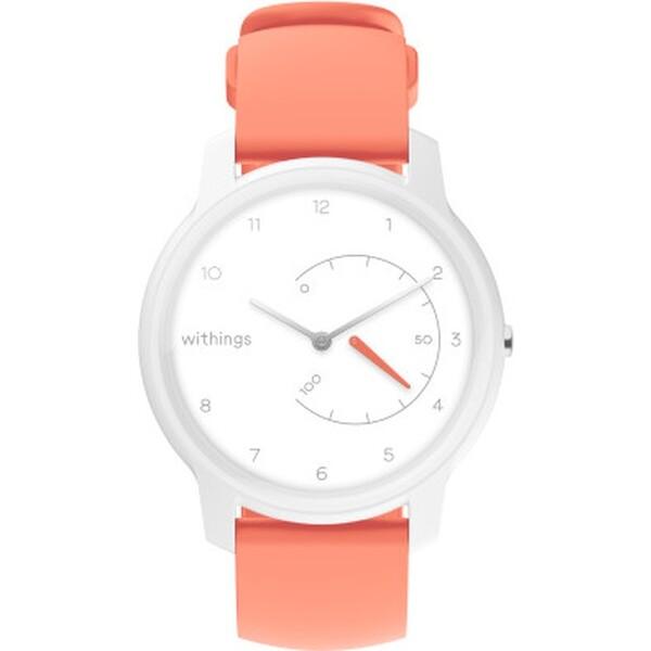 Withings Move fitness hodinky bílé/korálový pásek