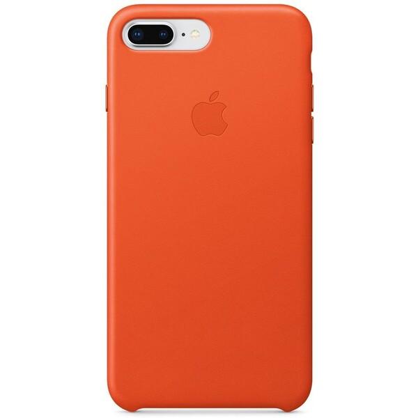 Pouzdro Apple iPhone 8 Plus / 7 Plus Leather Case - jasně oranžové Jasně oranžová