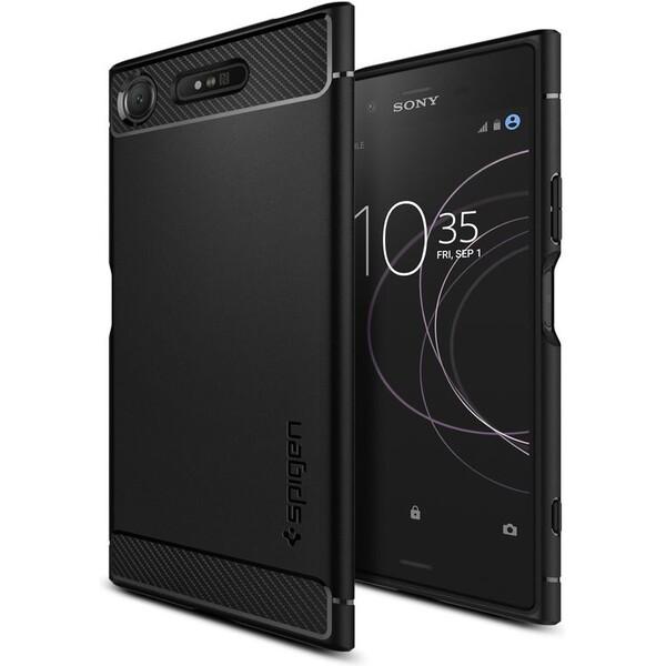 Pouzdro SPIGEN - Sony Xperia XZ1 Rugged Armor černé Černá