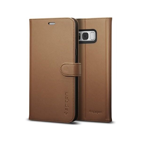 Spigen Wallet S kožené pouzdro Samsung Galaxy S8 hnědé