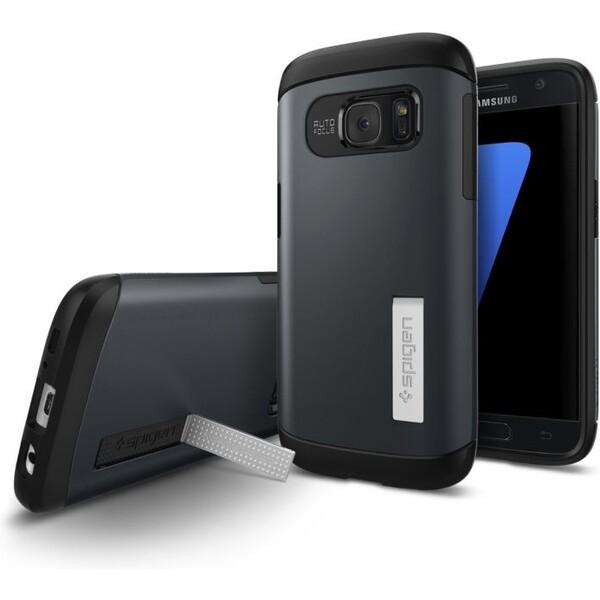 Pouzdro Spigen Slim Armor Galaxy S7 šedé Šedá