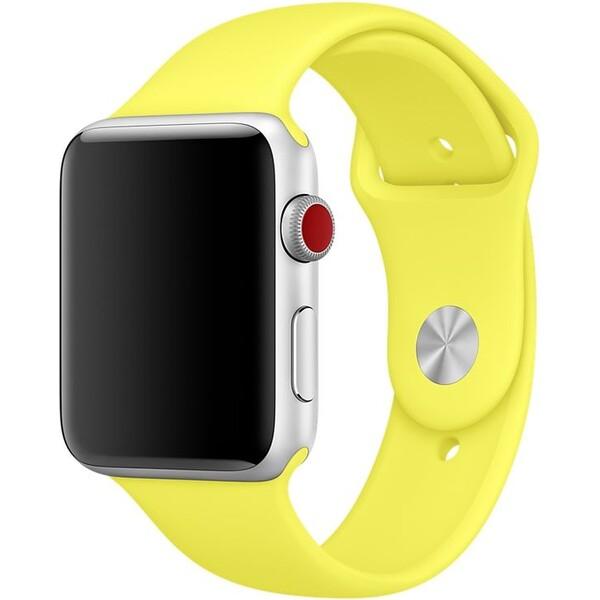 Apple Watch sportovní řemínek 42mm zářivě žlutý