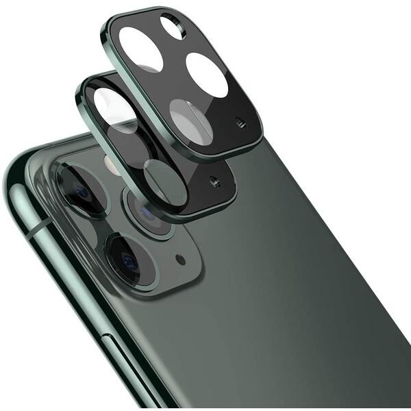COTEetCI sklíčko na kameru Apple iPhone 11 Pro/Pro Max půlnočně zelené