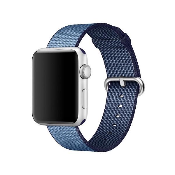 Apple Watch tkaný nylonový řemínek 38mm Navy modrý/azurový