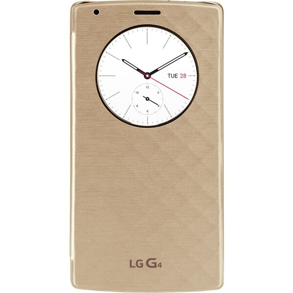 LG CFV-100 flip pouzdro QuickCircle LG G4 zlaté