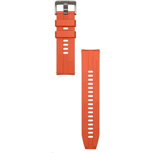 Huawei silikonový 22mm řemínek Watch GT/GT2 oranžový