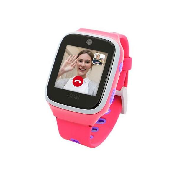 dokiPal dětské chytré hodinky 4G/LTE s videotelefonem Růžová
