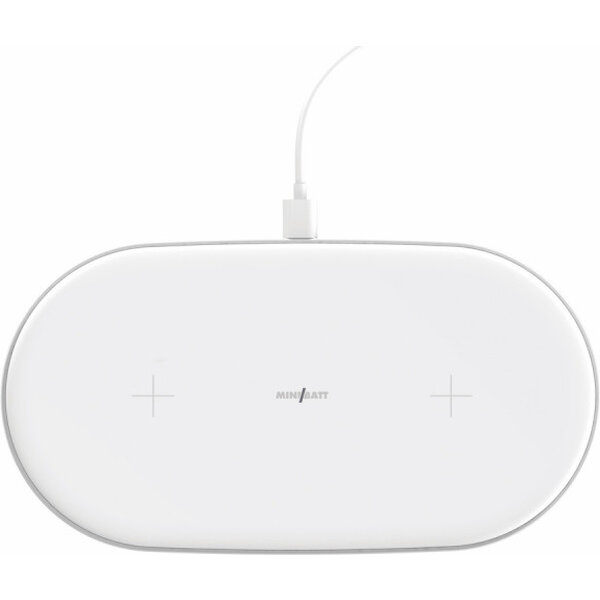 Fotografie MiniBatt PowerAIR Qi bezdrátová nabíječka pro 2 zařízení bílá Miss Sixty