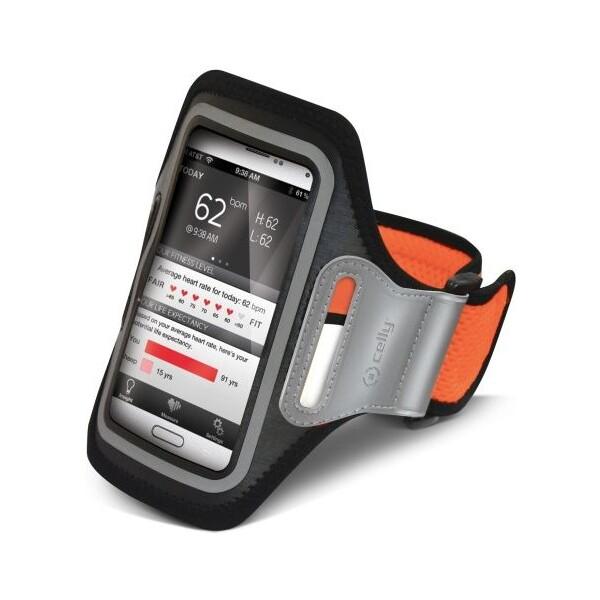 CELLY sportovní pouzdro na ruku XXL (140x74mm) oranžové