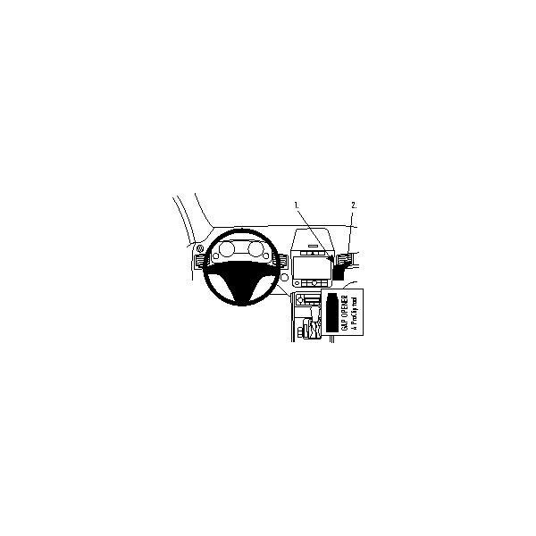 Brodit ProClip montážní konzole pro Volkswagen Touareg 11-17, na střed 854595 Černá