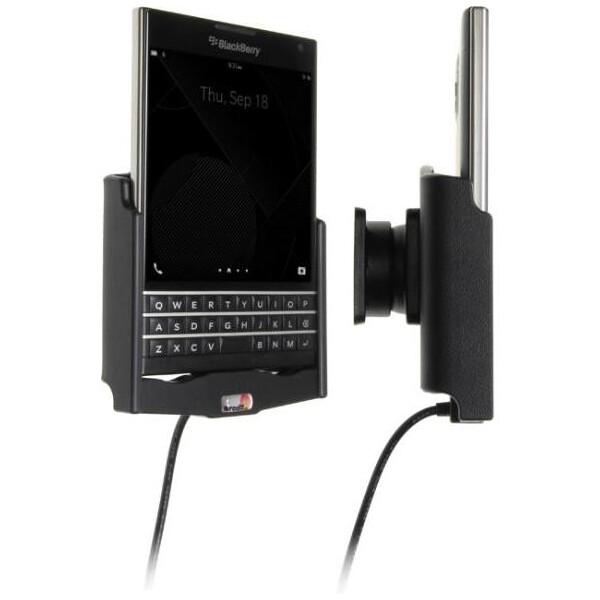 Brodit držák do auta na Blackberry Passport bez pouzdra, se skrytým nabíjením 513646 Černá