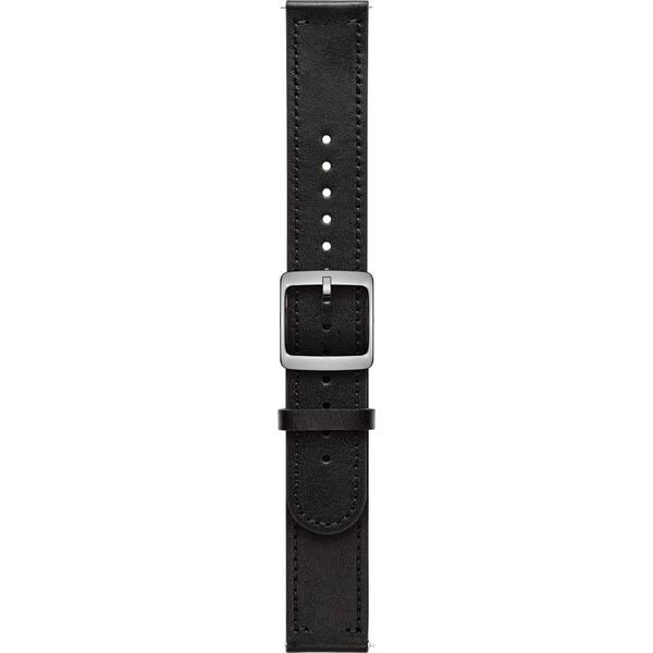 Nokia Accessory kožený řemínek (20mm) Activité Steel HR (40mm) černý NOK-LE-20-BK Černá