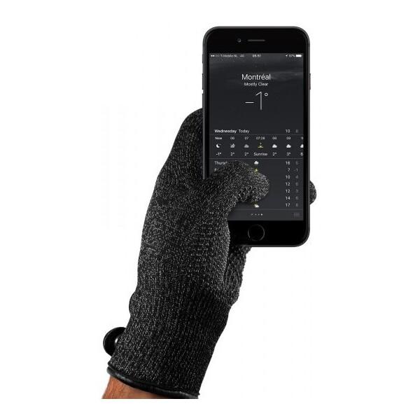 MUJJO jednovrstvé dotykové rukavice pro SmartPhone (L) černé Černá
