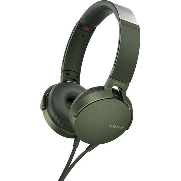Sony MDR-XB550AP Zelená