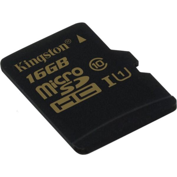 Kingston microSDHC 16GB UHS-I + adaptér SDCA10/16GB Černá