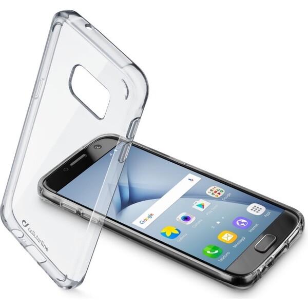 Pouzdro CellularLine Clear Duo Samsung Galaxy A3 2017 čiré Čirá