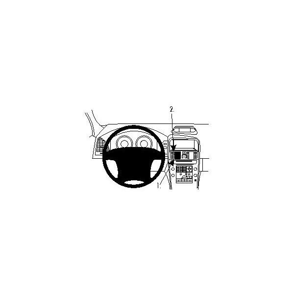 Brodit ProClip montážní konzole pro Volvo XC60 11-17, na střed 854611 Černá