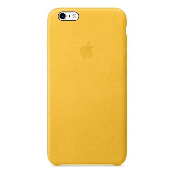 Apple iPhone 6s Plus Leather Case zadní kryt měsíčkově žlutý