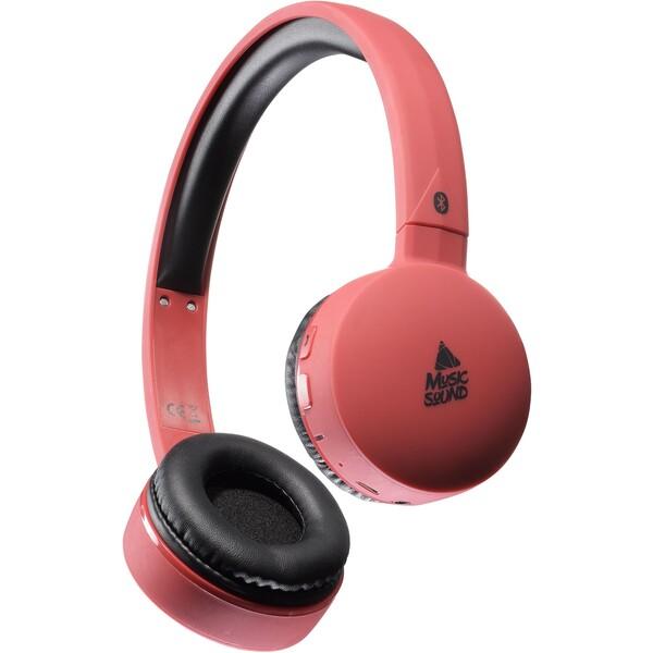 MUSIC SOUND Bluetooth sluchátka s mikrofonem červená