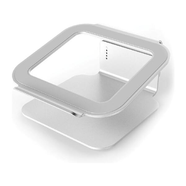 Desire 2 univerzální hliníkový podstavec na notebook, 360° otočná základna, stříbný U3-1 Stříbrná