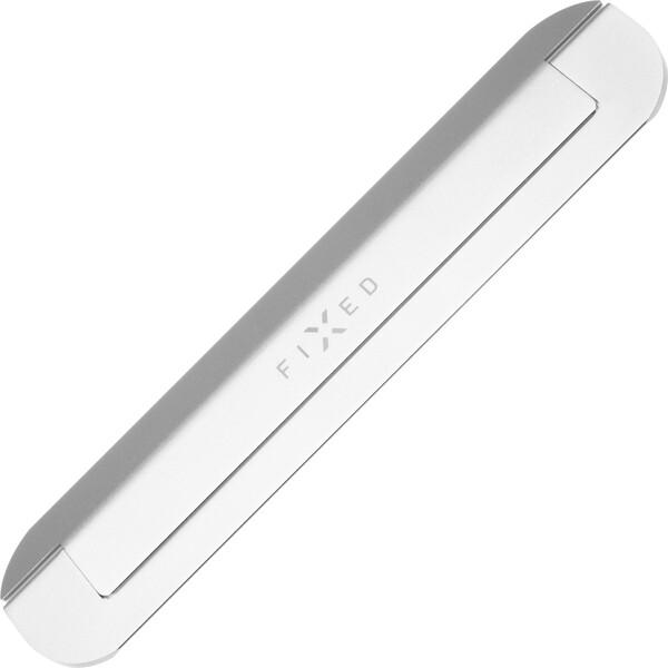 FIXED Frame Mini nalepovací hliníkový stojánek pro notebook/tablet stříbrný