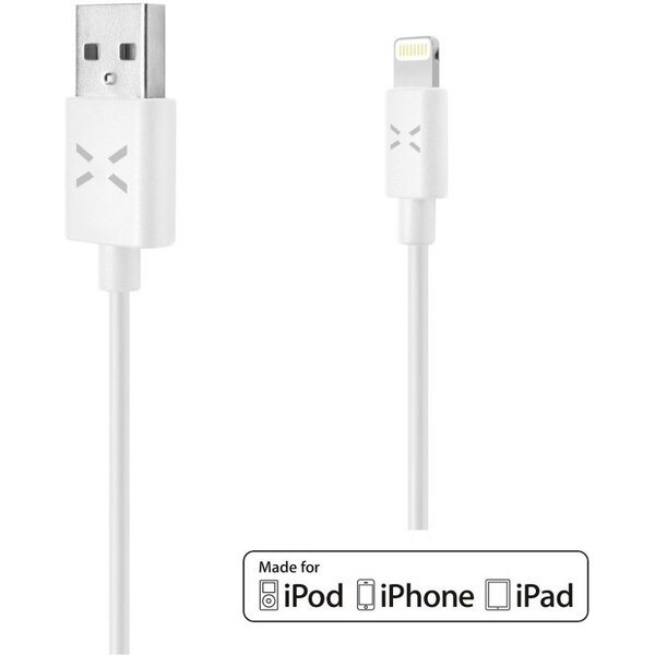 FIXED TO USB datový kabel s konektorem Lightning MFI 1m Bílá