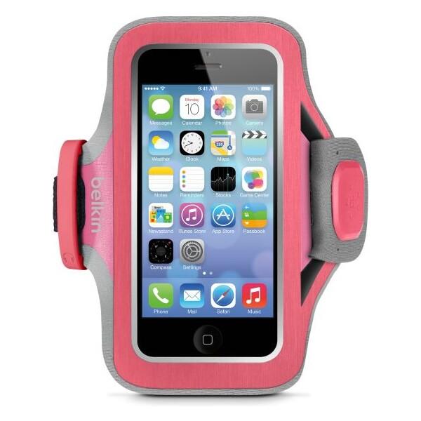 Pouzdro Belkin Slim-Fit Plus iPhone 5/5s/5c růžové Růžová