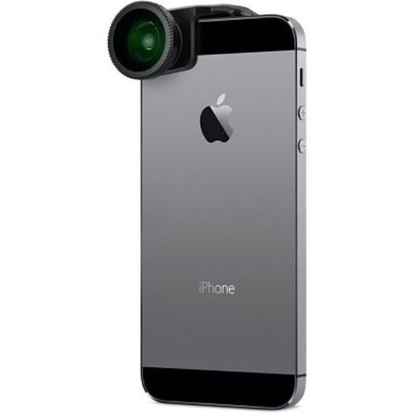Olloclip 4in1 Lens System pro Apple iPhone 5 a Apple iPhone 5S, Silver/Black Černá