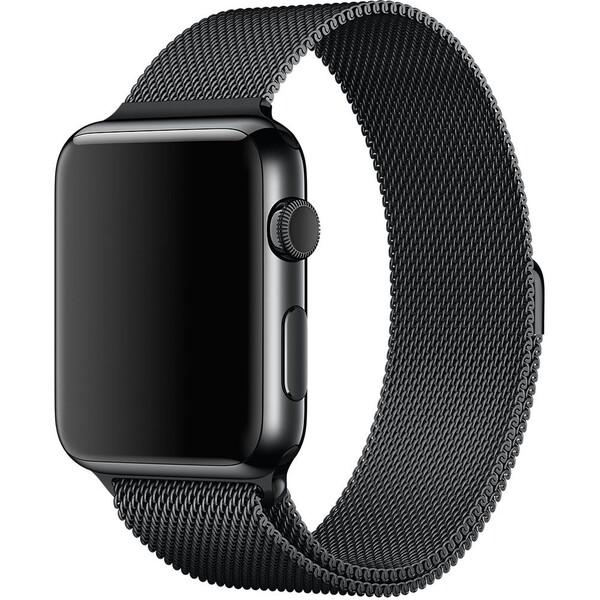 Apple Watch řemínek milánský tah 42mm vesmírně černý