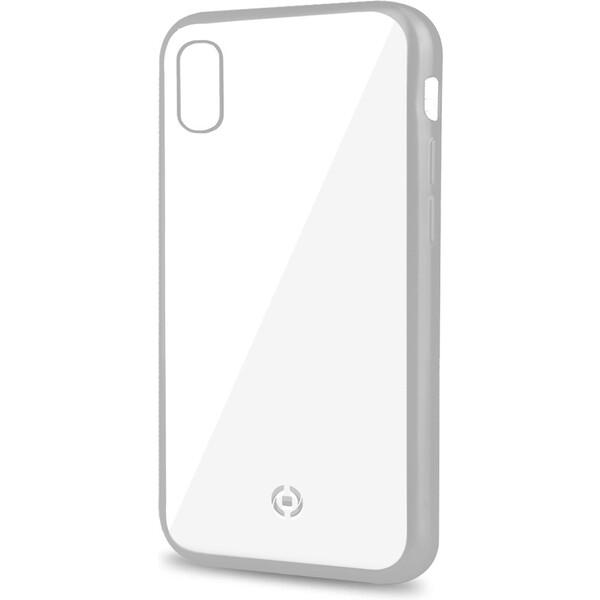 CELLY Laser pouzdro Apple iPhone XR stříbrné