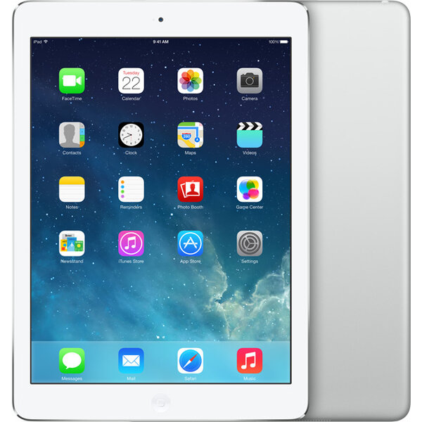 Apple iPad Air 16GB / Wi-Fi + 4G / MD794FD/B / Stříbrná